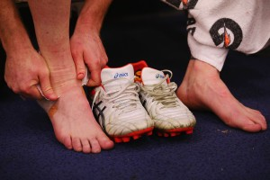 How foot taping and orthotics help flat feet