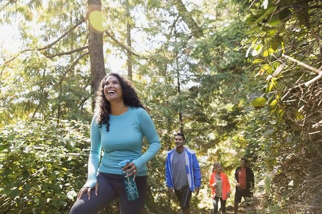 burn calories on a hike