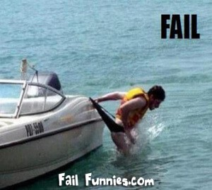 swimming fail