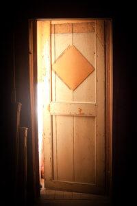 Backlit door opening