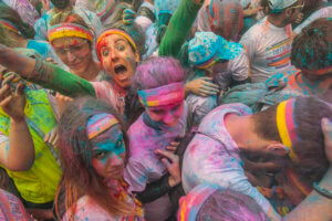 Italy, Toscana (Tuscany), Firenze (Florence) . Color Run Firenze 2015