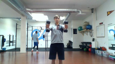 dumbbell up and out