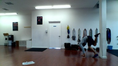 handstand wall walkup