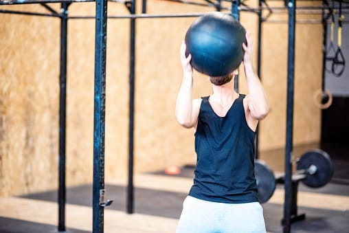 medicine ball toss for runners with recurrent ankle sprains