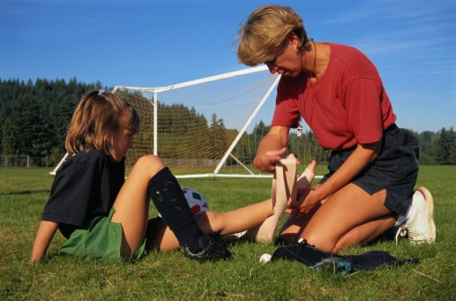 Sprained Ankle at Soccer Game