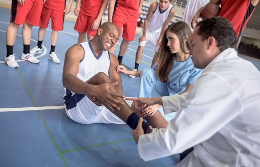treatment for basketball injuries